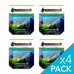 Pack 4 HP 364XL Cartuchos...