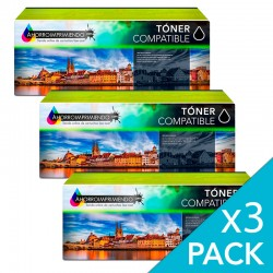 Pack 3 Canon 724H Negro...