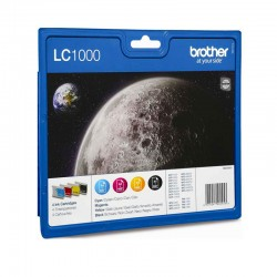 Pack 4 Brother LC 1000...